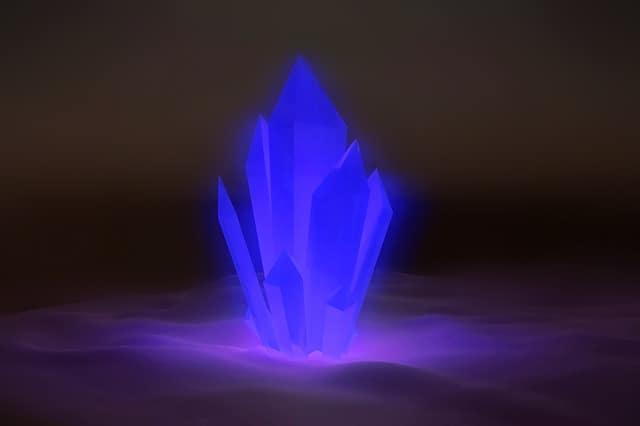 glowing crystal